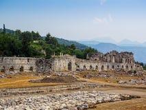 Den forntida staden av Tlos Royaltyfri Fotografi