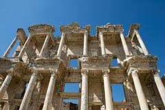 Den forntida staden fördärvar av Ephesus, lopp till Turkiet Arkivfoto