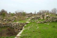 den forntida staden fördärvar troy Arkivfoto