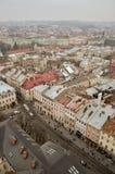 Den forntida staden från en höjd Fotografering för Bildbyråer