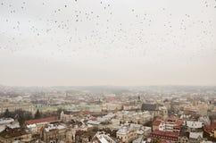 Den forntida staden från en höjd Royaltyfri Foto