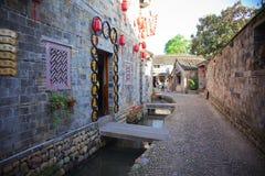 Den forntida staden namngav Tongli i Ningbo av Kina Royaltyfri Fotografi