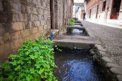 Den forntida staden namngav Tongli i Ningbo av Kina Arkivbild