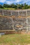 Den forntida teatern fördärvar av forntida Nysa på Maeanderen Turkiet Royaltyfri Fotografi