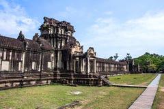 Den forntida templet av Angkor Wat Arkivfoto