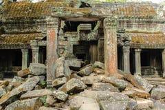 Den forntida templet fördärvar Angkor Wat, Cambodja - tempel av angkoren Royaltyfria Bilder