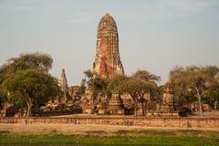 Den forntida templet i historiska Ayutthaya parkerar, Thailand Royaltyfria Foton