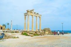 Den forntida templet i sida Royaltyfria Bilder