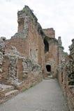 Den forntida theatren av Taormina Arkivfoto