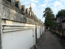 Den forntida väggen av templet Royaltyfria Foton