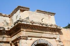 Den forntida väggen från Ephesus fördärvar Arkivfoto