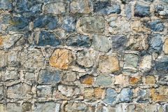 Den forntida väggen göras av stenen Fotografering för Bildbyråer