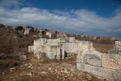 Den forntida väggen kamen in briag Fotografering för Bildbyråer