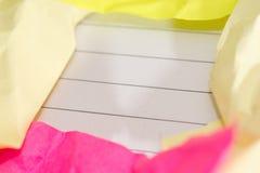 Den framgångbegreppet och idén skrynklade pappers- utrymme för text Royaltyfri Fotografi