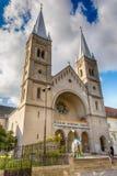 Den Franciscan kloster och kyrkan är hängivna till St Michael, Subotica - Serbien Arkivfoton