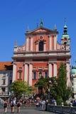 Den Franciscan kyrkan av förklaringen, Ljubljana royaltyfria bilder
