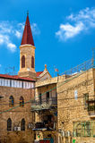 Den Franciscan Terra Sancta Church i Akko arkivbilder