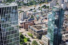 Den Frankfurt staden Arkivbild