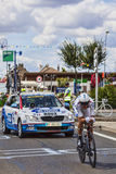 Den franska cyklisten Anthony Roux Arkivfoton