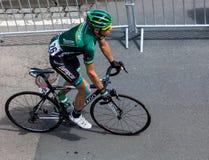 Den franska cyklisten Jerome Vincent Arkivbild