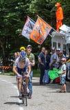 Den franska cyklisten Marino Jean Marc Arkivfoto
