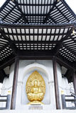 Den fredpagodbuddha batterseaen parkerar london Royaltyfria Bilder