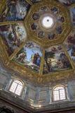 Den frescoed kupolen i det Medici kapellet, Florence, Italien fotografering för bildbyråer