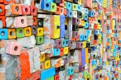 Den färgrika keramiska tegelplattan mönstrar bakgrund Arkivfoto