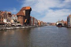 Den fria staden av Gdansks medeltida mitt Arkivbilder
