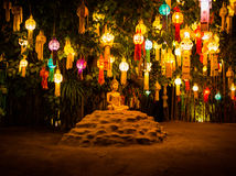 Den fridsamma munkstatyn i Chiangmai, Thailand Arkivbild