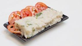 Den Fried Radish kakan i kinesiskt språk är Chai släp kway Vegetaria Fotografering för Bildbyråer