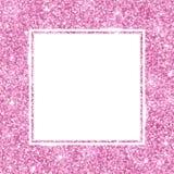 Den fyrkantiga ramen med rosa färger blänker vektor Arkivfoto