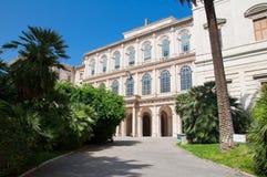 Den GalleriaNazionale d'Arten Antica. Rome Italien. Arkivfoton