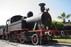 Den gamla ångalokomotivet på det Camlik museet, Turkiet Arkivbild