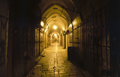 Den gamla arabiska basaren i Jerusalem Royaltyfria Foton