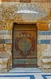 Den gamla arabiska dörren Royaltyfri Bild
