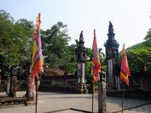 Den gamla arkitekturen av den forntida Hoa Lu citadellen, Vietnam Fotografering för Bildbyråer