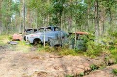 Den gamla bilkyrkogården Royaltyfri Bild