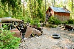 Den gamla bilkyrkogården Arkivfoton