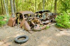 Den gamla bilkyrkogården Arkivbilder
