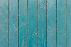 Den gamla blåa wood texturen med naturliga modeller arkivfoto