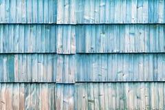 Den gamla blåa wood texturen med naturliga modeller Royaltyfria Foton