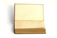 Den gamla boken öppnar framsida två Royaltyfri Bild