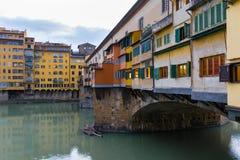 Den gamla bron i Florence Royaltyfria Foton