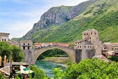 Den gamla bron (Stari mest), Mostar, Bosnien och Hercegovina Arkivbild