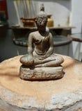 Den gamla Buddhabilden Arkivfoton
