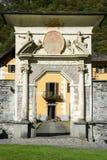 Den gamla byn av Cevio på den Maggia dalen Arkivbilder