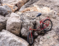 Den gamla cykeln vaggar på Fotografering för Bildbyråer