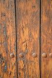 Den gamla dörren i solsken fördärvar i Spanien Arkivfoto