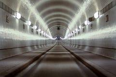 Den gamla Elbe tunnelen Fotografering för Bildbyråer